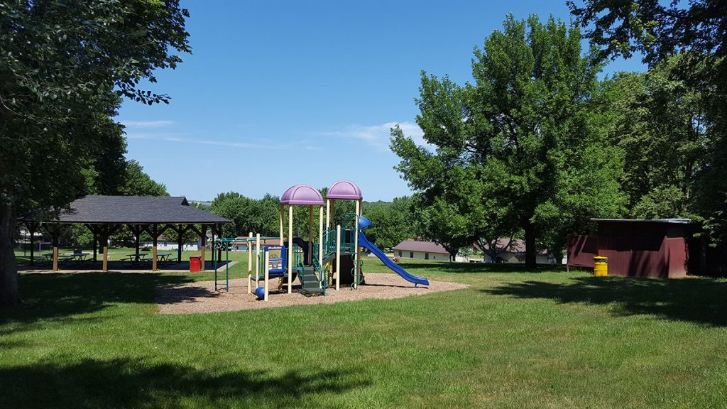 Maxwell Park sits on two and a half acres of land at 1303 Bohnker Hill Road and is newly renovated by local community members. The park consists of playground equipment, swing set, covered shelter facility, restrooms, a half-size basketball court and softball/baseball backstop.