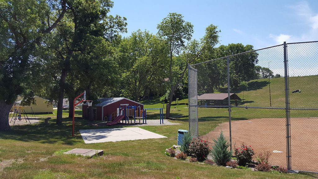 Morningside Park is a one-acre neighborhood park located at 7 Morningside Drive. The park features a covered shelter, playground equipment, restrooms, swing set, backstop and practice field for little league baseball or softball. It also contains an enclosed shelter facility available to rent from May to September.