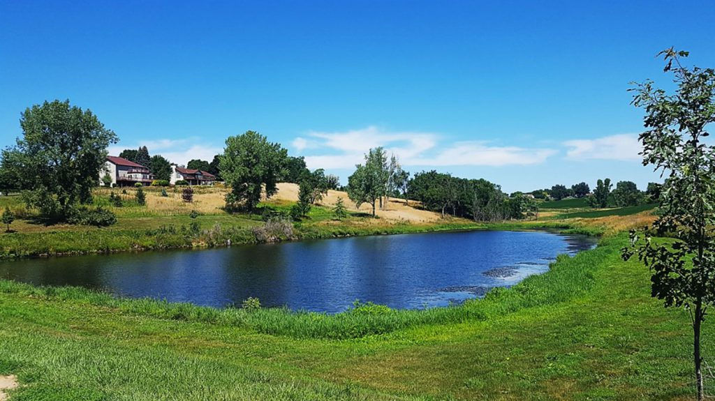 Tuckers Pond is a five-acre pond tucked in the northeast edge of Denison at 2710 6th Avenue North. The pond is perfect for your next fishing adventure. It also includes a covered shelter facility suitable for a small birthday party.